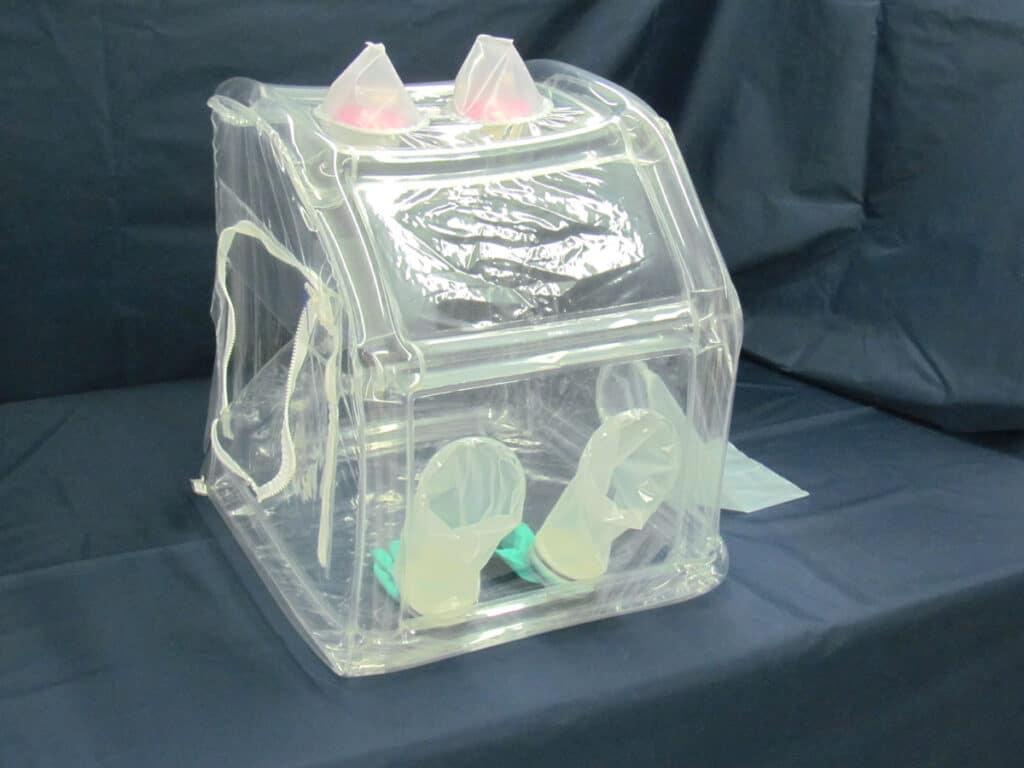 Beveled Front Inflatable Glovebag